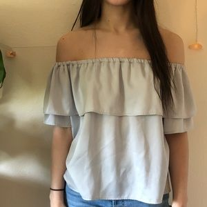 Harlowe & Graham Tops - Off the shoulder Flowy As Fuck T-shirt